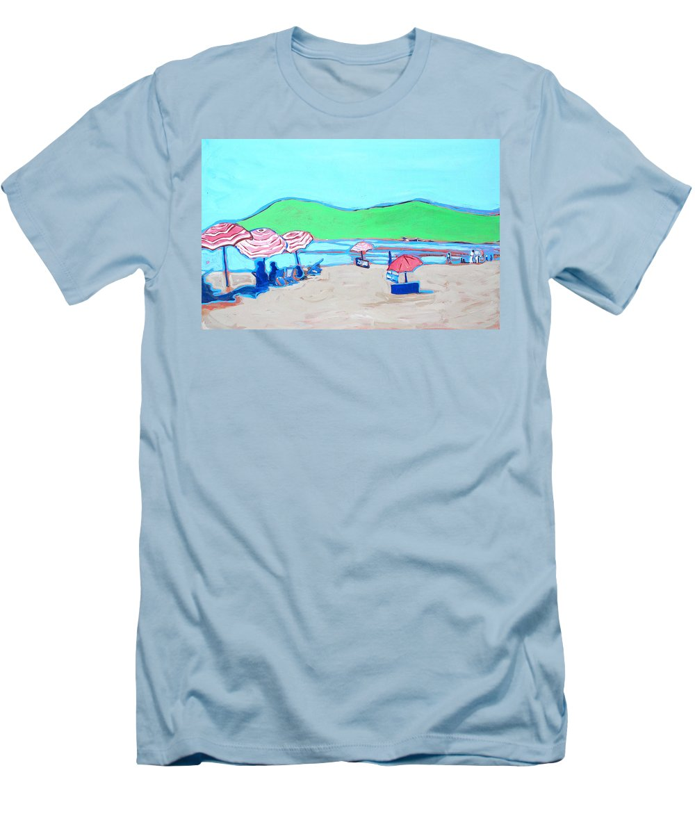 Seashore Men's T-Shirt (Athletic Fit) featuring the painting Riviera by Kurt Hausmann