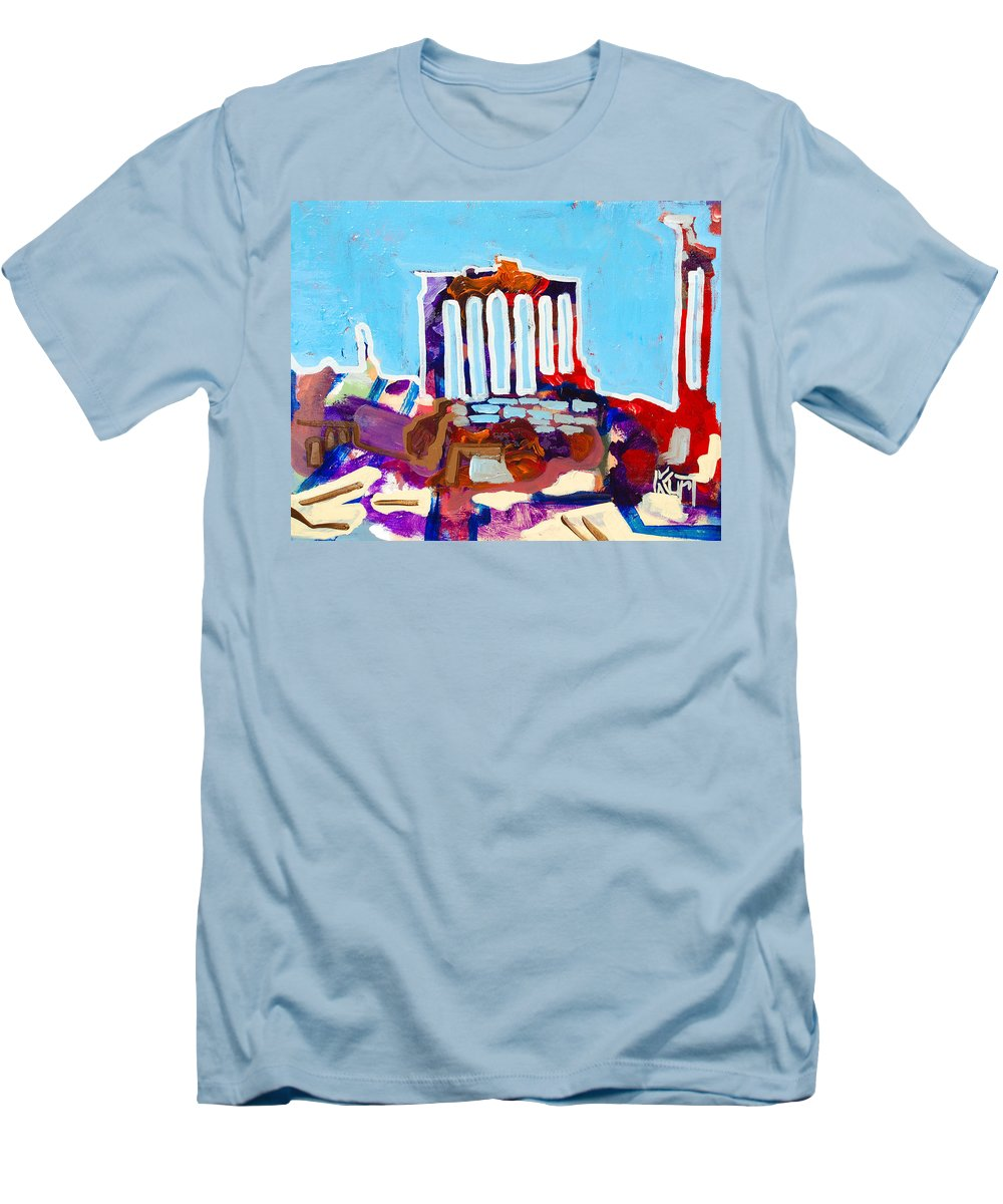 Rome Men's T-Shirt (Athletic Fit) featuring the painting Rome by Kurt Hausmann