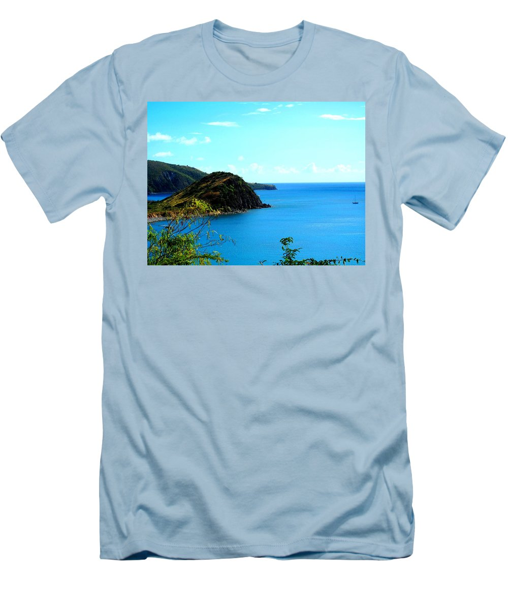 St Kitts Men's T-Shirt (Athletic Fit) featuring the photograph Safe Harbor by Ian MacDonald