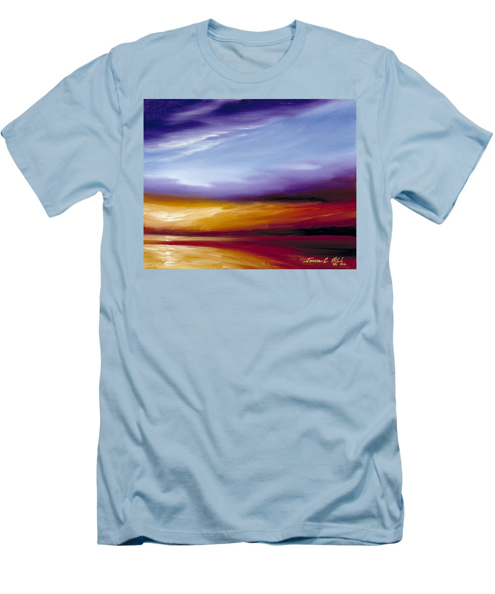 Skyscape Men's T-Shirt (Athletic Fit) featuring the painting Sarasota Bay II by James Christopher Hill