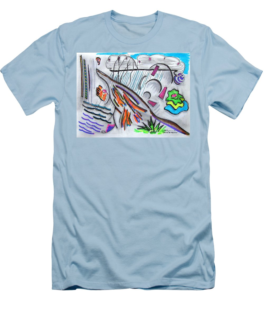 Abstract Drawing Men's T-Shirt (Athletic Fit) featuring the drawing Sensing The Precipice by J R Seymour
