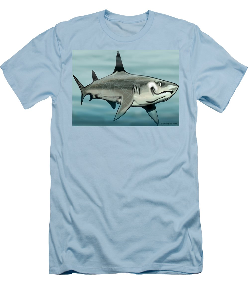 Shark Men's T-Shirt (Athletic Fit) featuring the painting Shark by Kevin Middleton