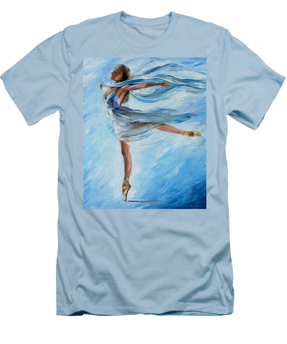 Ballet Men's T-Shirt (Athletic Fit) featuring the painting Sky Dance by Leonid Afremov