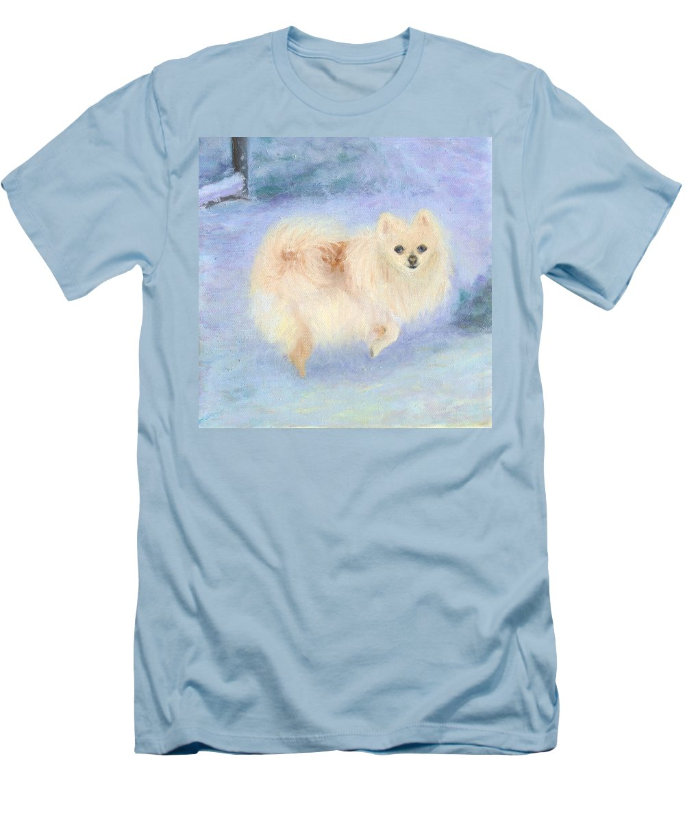 Dog Men's T-Shirt (Athletic Fit) featuring the painting Snow Angel by Paula Emery