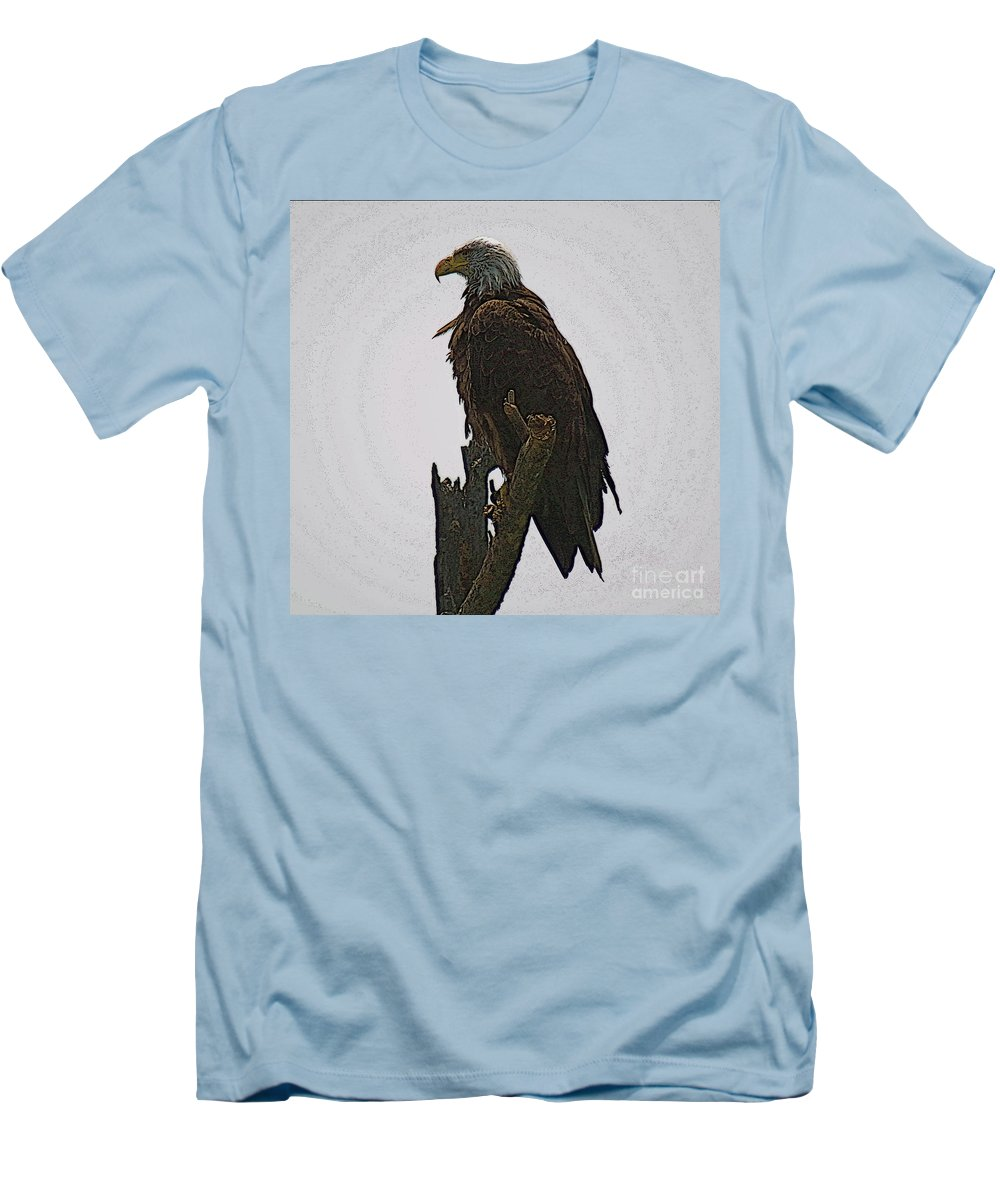 Bald Eagle Men's T-Shirt (Athletic Fit) featuring the photograph Solitude by Robert Pearson