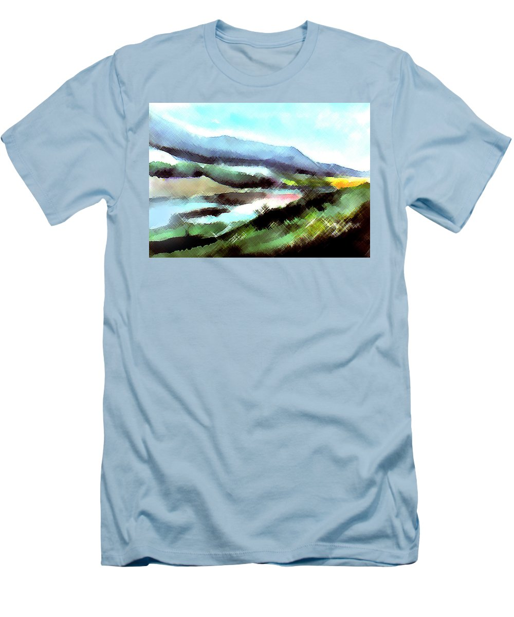 Digital Art Men's T-Shirt (Athletic Fit) featuring the painting Sparkling by Anil Nene