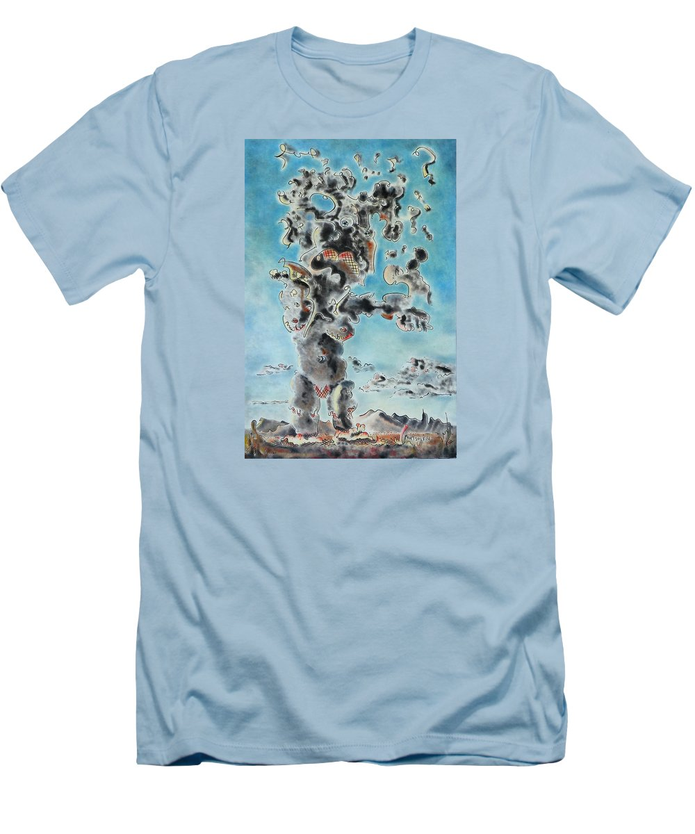Surreal Men's T-Shirt (Athletic Fit) featuring the painting Spectre by Dave Martsolf