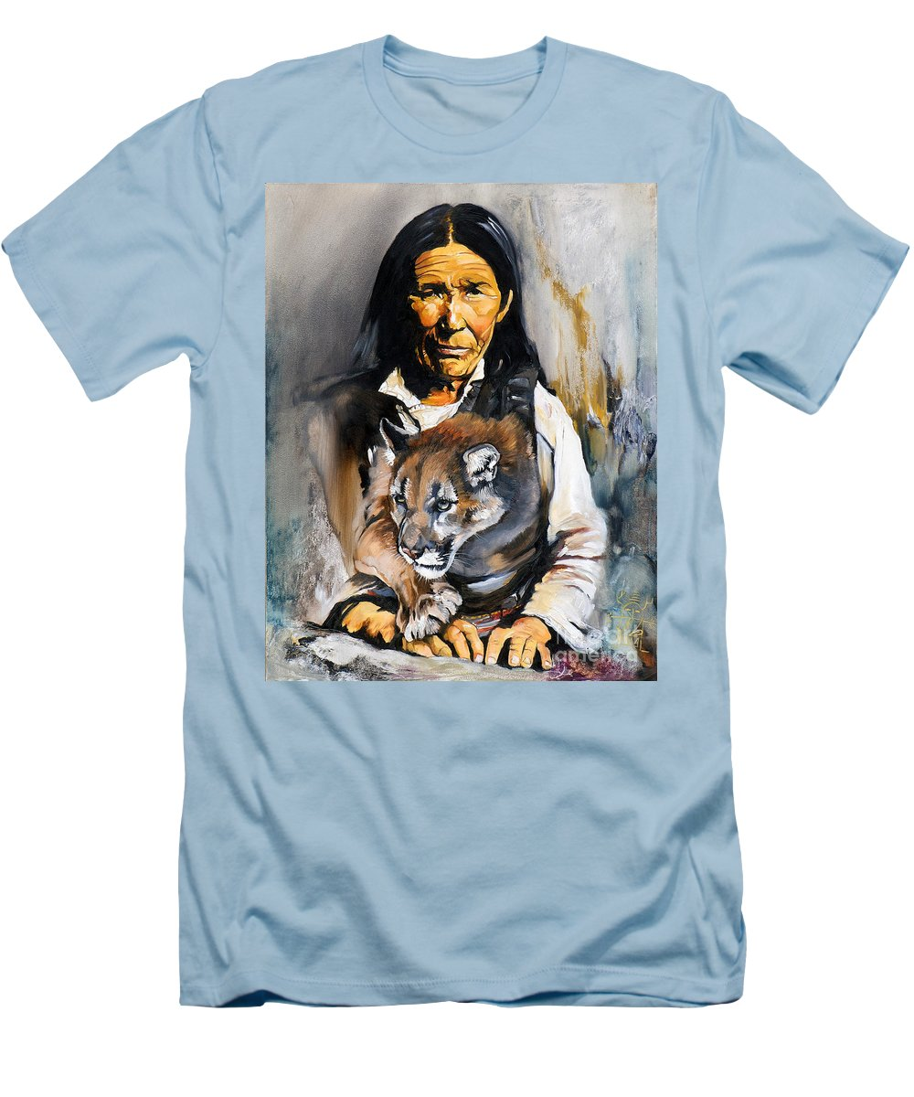 Spiritual Men's T-Shirt (Athletic Fit) featuring the painting Spirit Within by J W Baker