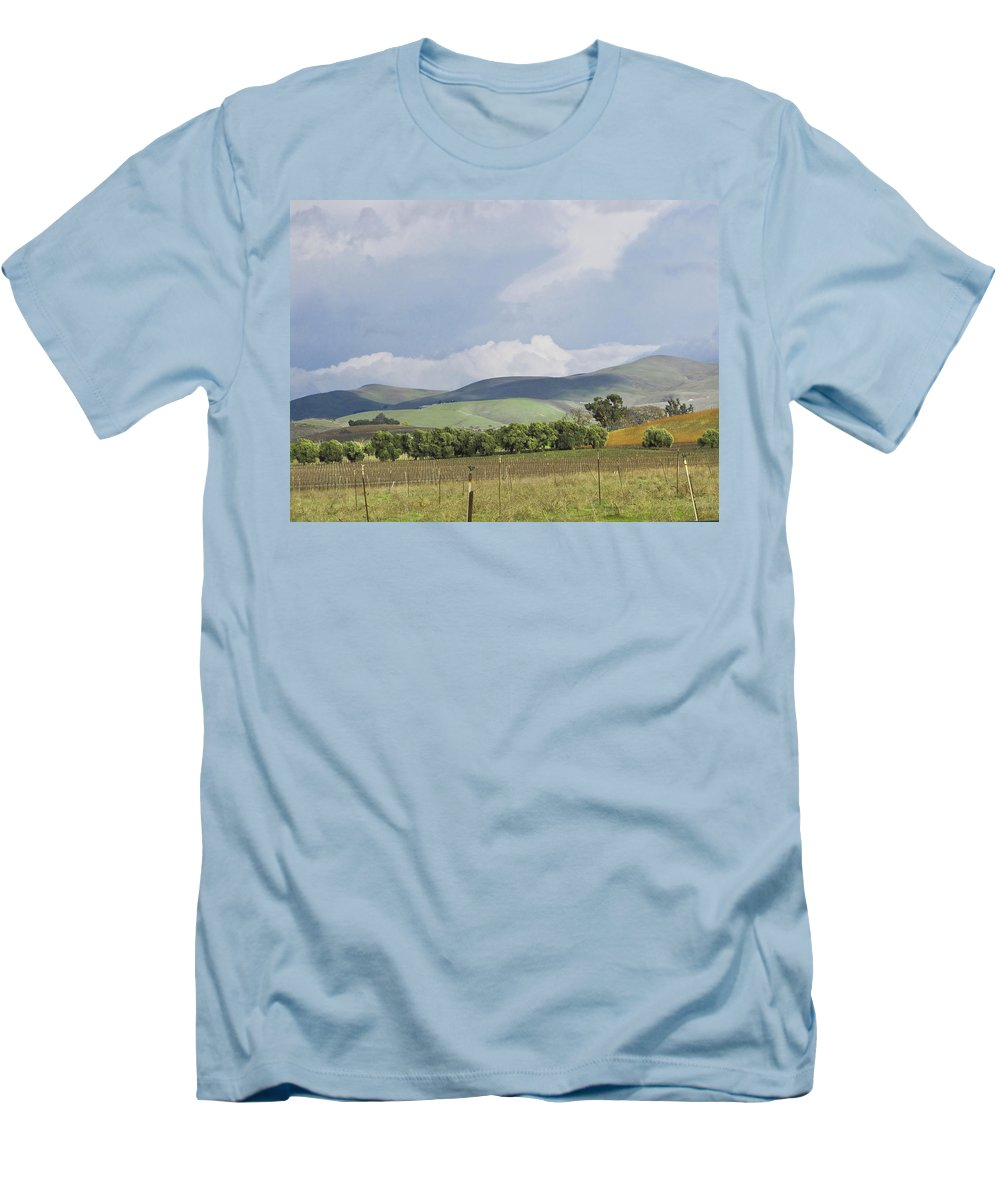 Landscape Men's T-Shirt (Athletic Fit) featuring the photograph Spring In Livermore by Karen W Meyer