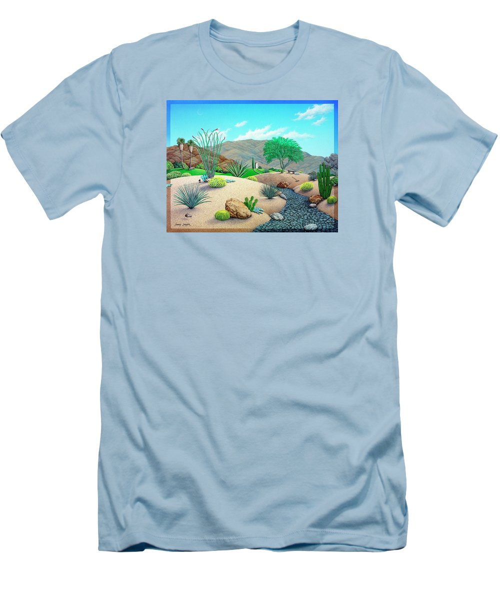 Desert Men's T-Shirt (Athletic Fit) featuring the painting Steves Yard by Snake Jagger
