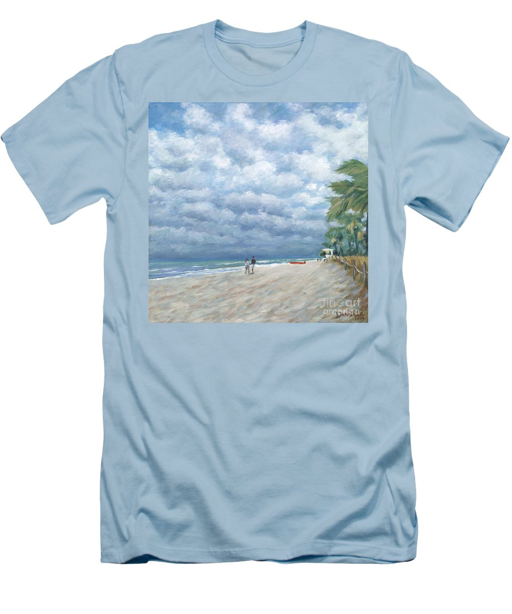 Fort Lauderdale Men's T-Shirt (Athletic Fit) featuring the painting Storm On The Horizon by Danielle Perry
