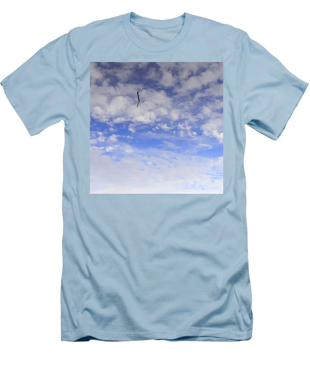 Sky Men's T-Shirt (Athletic Fit) featuring the photograph Stuck In The Clouds by Ed Smith