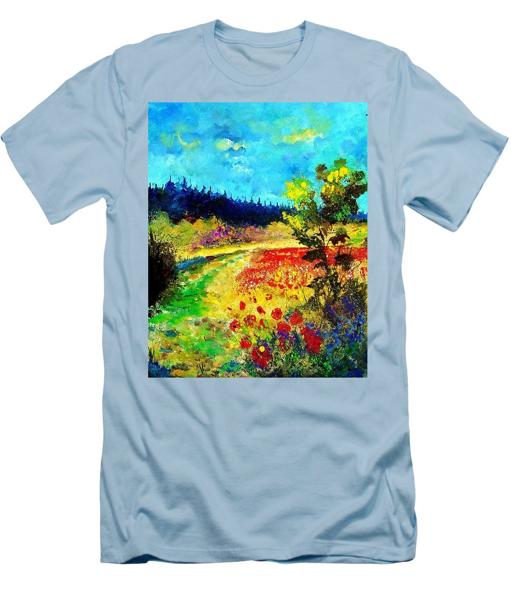 Flowers Men's T-Shirt (Athletic Fit) featuring the painting Summer by Pol Ledent