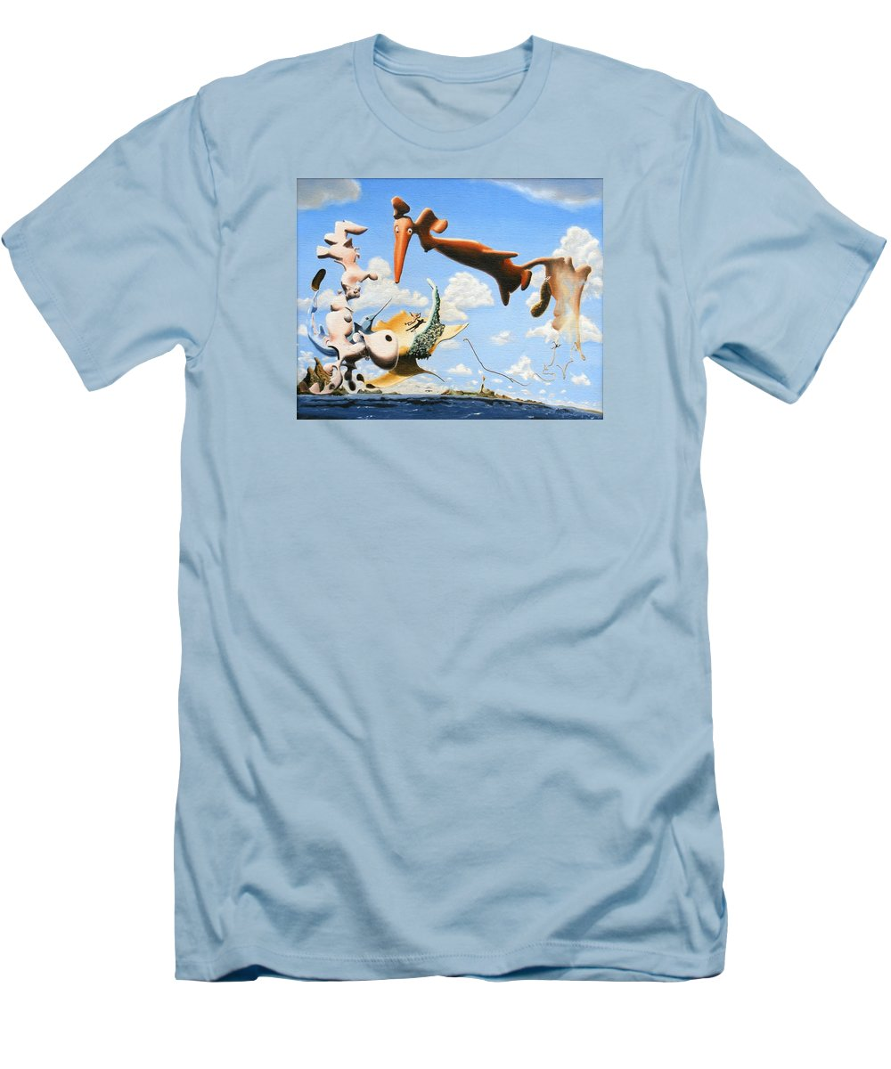 Surreal Men's T-Shirt (Athletic Fit) featuring the painting Surreal Friends by Dave Martsolf