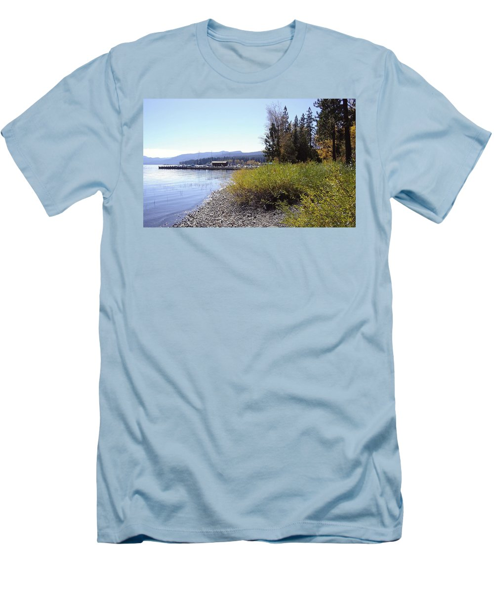 Lake Men's T-Shirt (Athletic Fit) featuring the photograph Tahoe by Mary Rogers