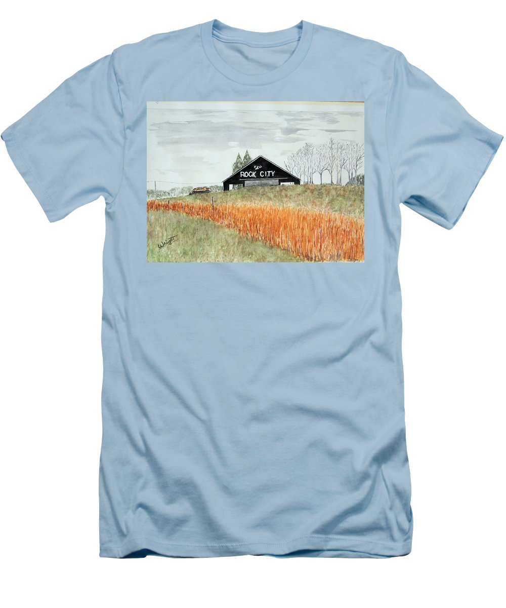 Barns Men's T-Shirt (Athletic Fit) featuring the painting Tennessee Destination by Larry Wright