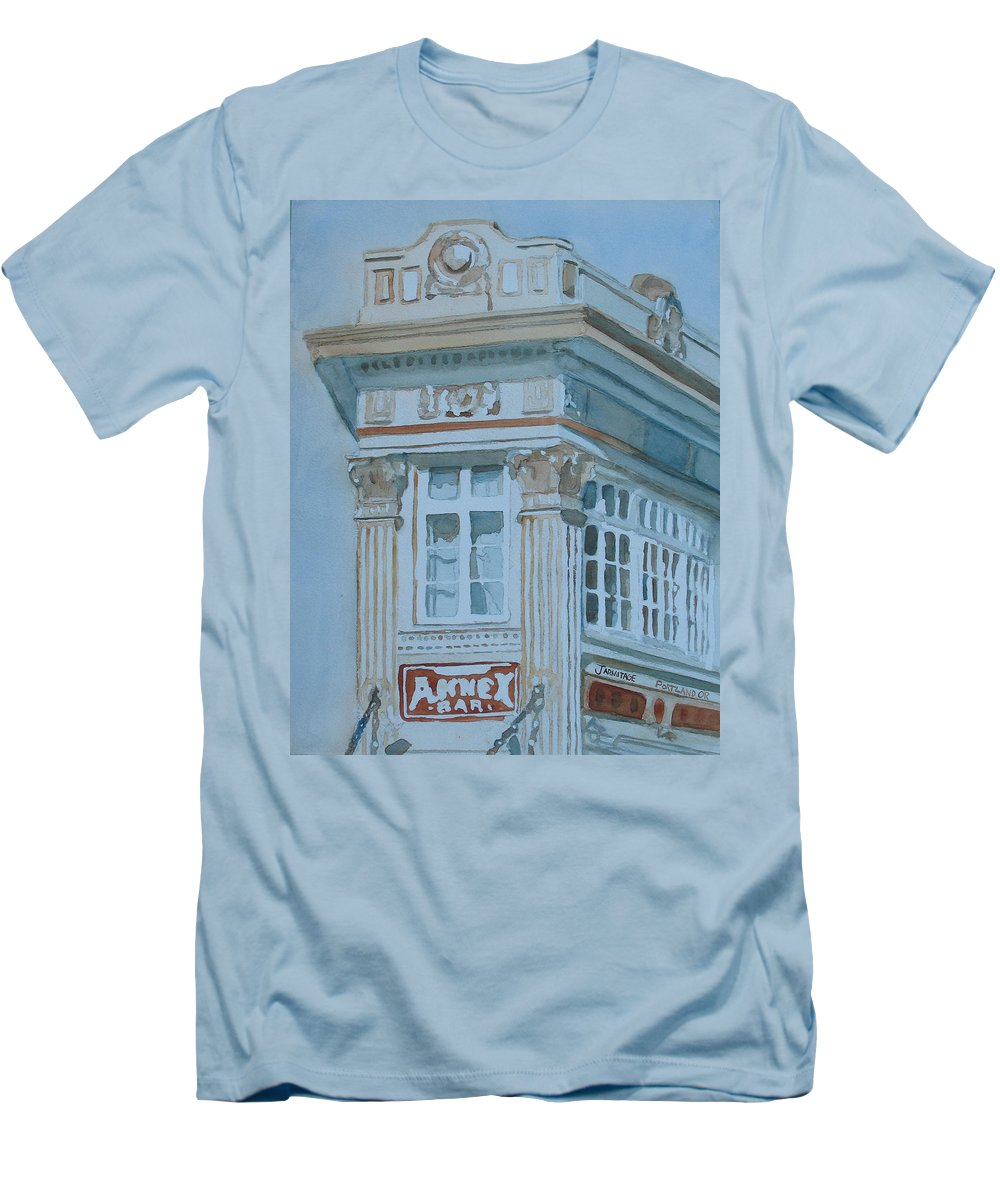 Bar Men's T-Shirt (Athletic Fit) featuring the painting The Annex Bar by Jenny Armitage