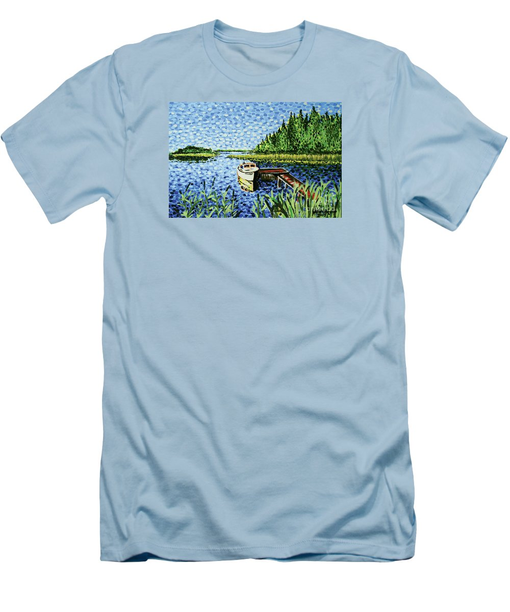 Hogan Men's T-Shirt (Athletic Fit) featuring the painting The Calypso by Alan Hogan