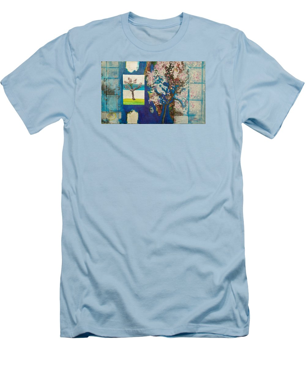 Men's T-Shirt (Athletic Fit) featuring the painting The Dream by Jarle Rosseland
