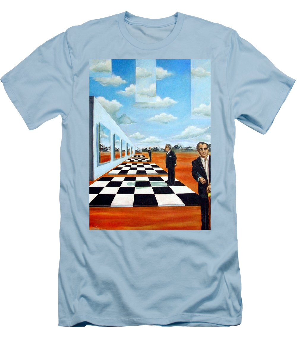 Surreal Men's T-Shirt (Athletic Fit) featuring the painting The Gallery by Valerie Vescovi