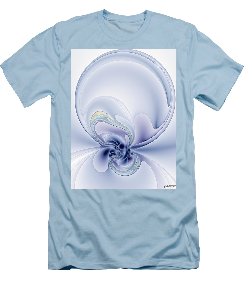 Abstract Men's T-Shirt (Athletic Fit) featuring the digital art The Liquidity Of Thought by Casey Kotas