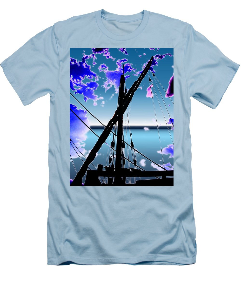 Seattle Men's T-Shirt (Athletic Fit) featuring the digital art The Nina Mast by Tim Allen