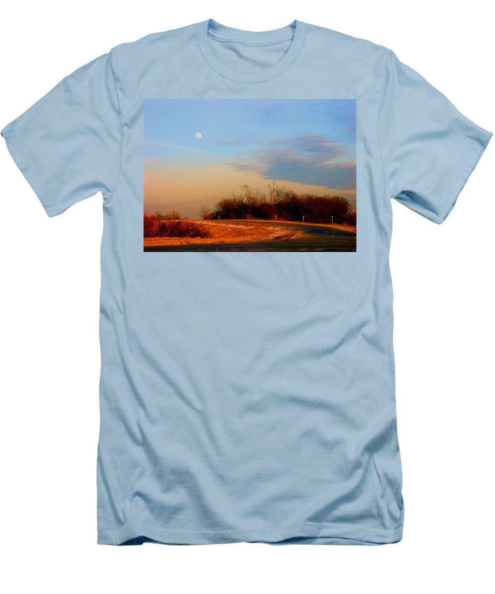 Landscape Men's T-Shirt (Athletic Fit) featuring the photograph The On Ramp by Steve Karol