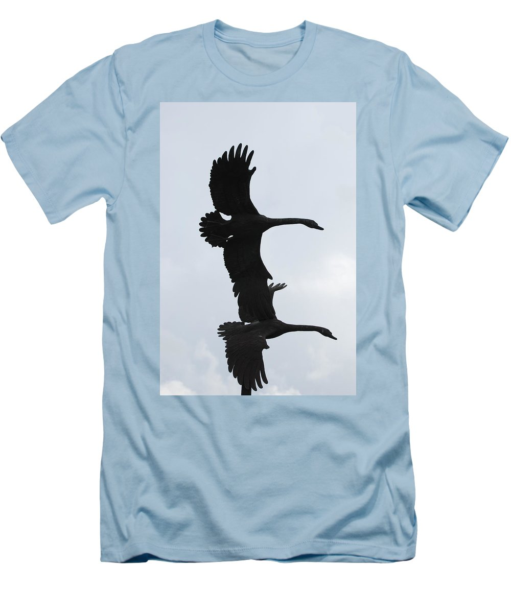 Sky Men's T-Shirt (Athletic Fit) featuring the photograph The Stone Birds by Rob Hans