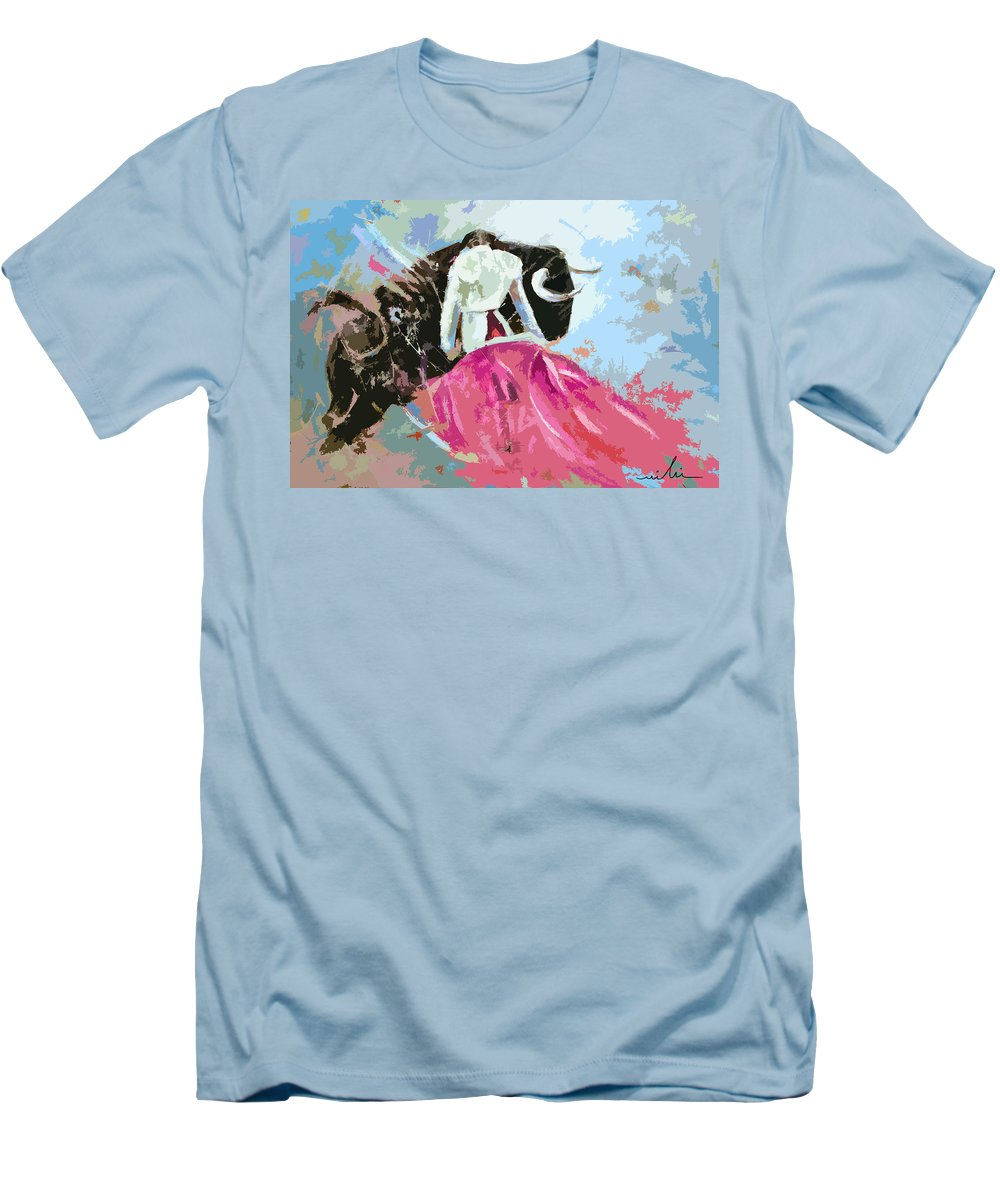 Animals Men's T-Shirt (Athletic Fit) featuring the painting Toroscape 34 by Miki De Goodaboom
