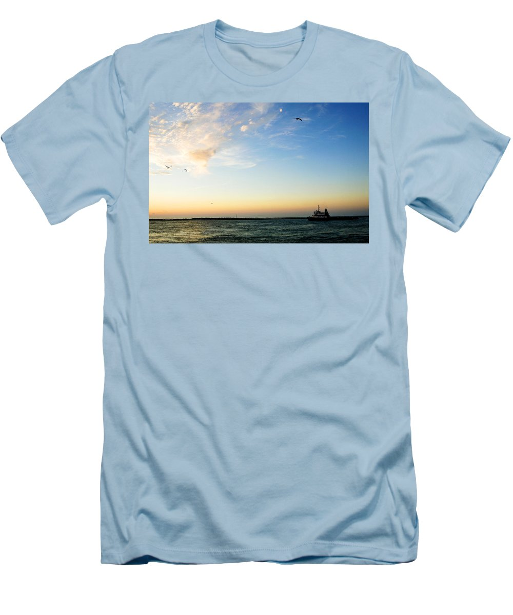 Sip Men's T-Shirt (Athletic Fit) featuring the photograph Travels At Sunset by Marilyn Hunt