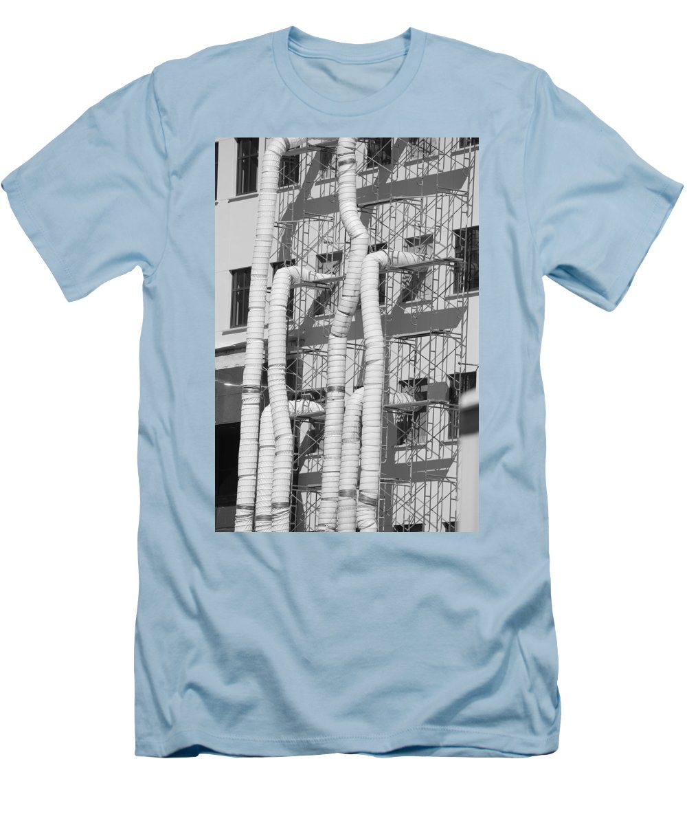 Tubes Men's T-Shirt (Athletic Fit) featuring the photograph Tube Construction by Rob Hans