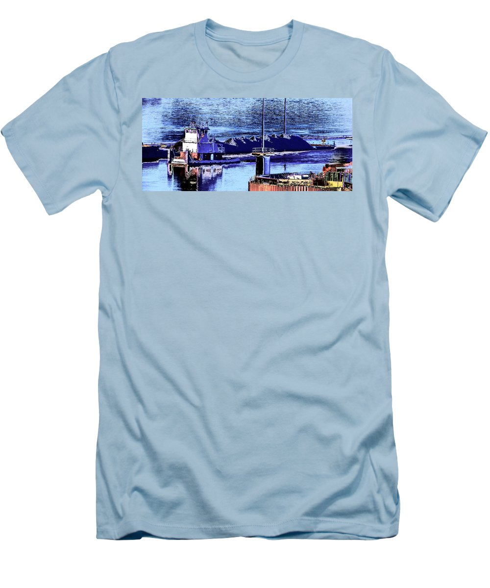 Abstract Men's T-Shirt (Athletic Fit) featuring the photograph Tug Reflections by Rachel Christine Nowicki