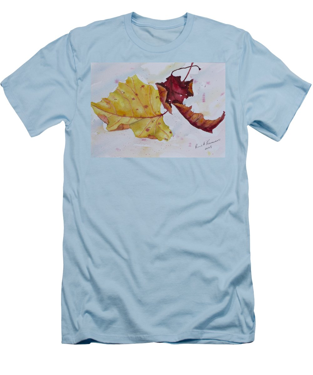 Fall Men's T-Shirt (Athletic Fit) featuring the painting Tumbling by Ruth Kamenev