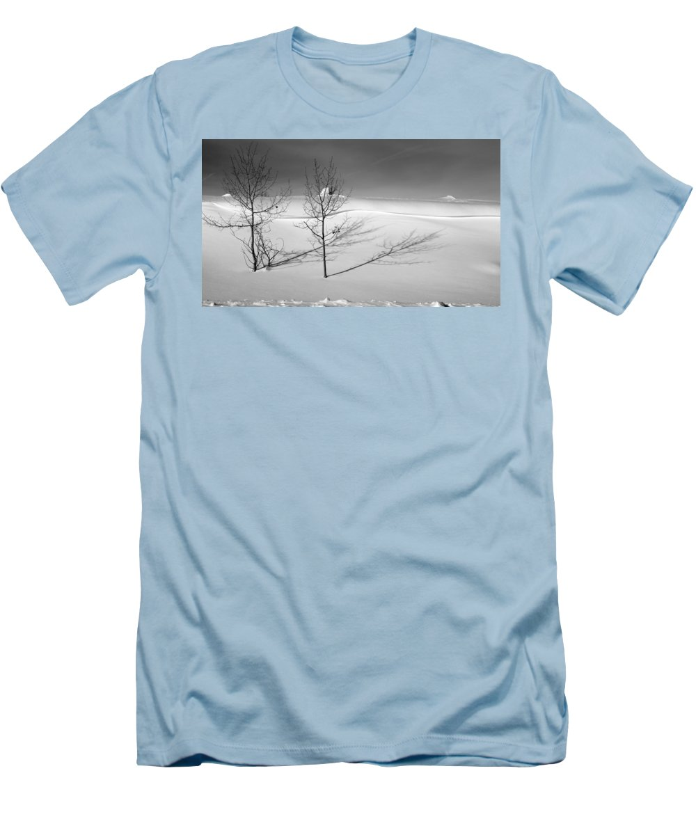 Nature Men's T-Shirt (Athletic Fit) featuring the photograph Twins by Skip Hunt