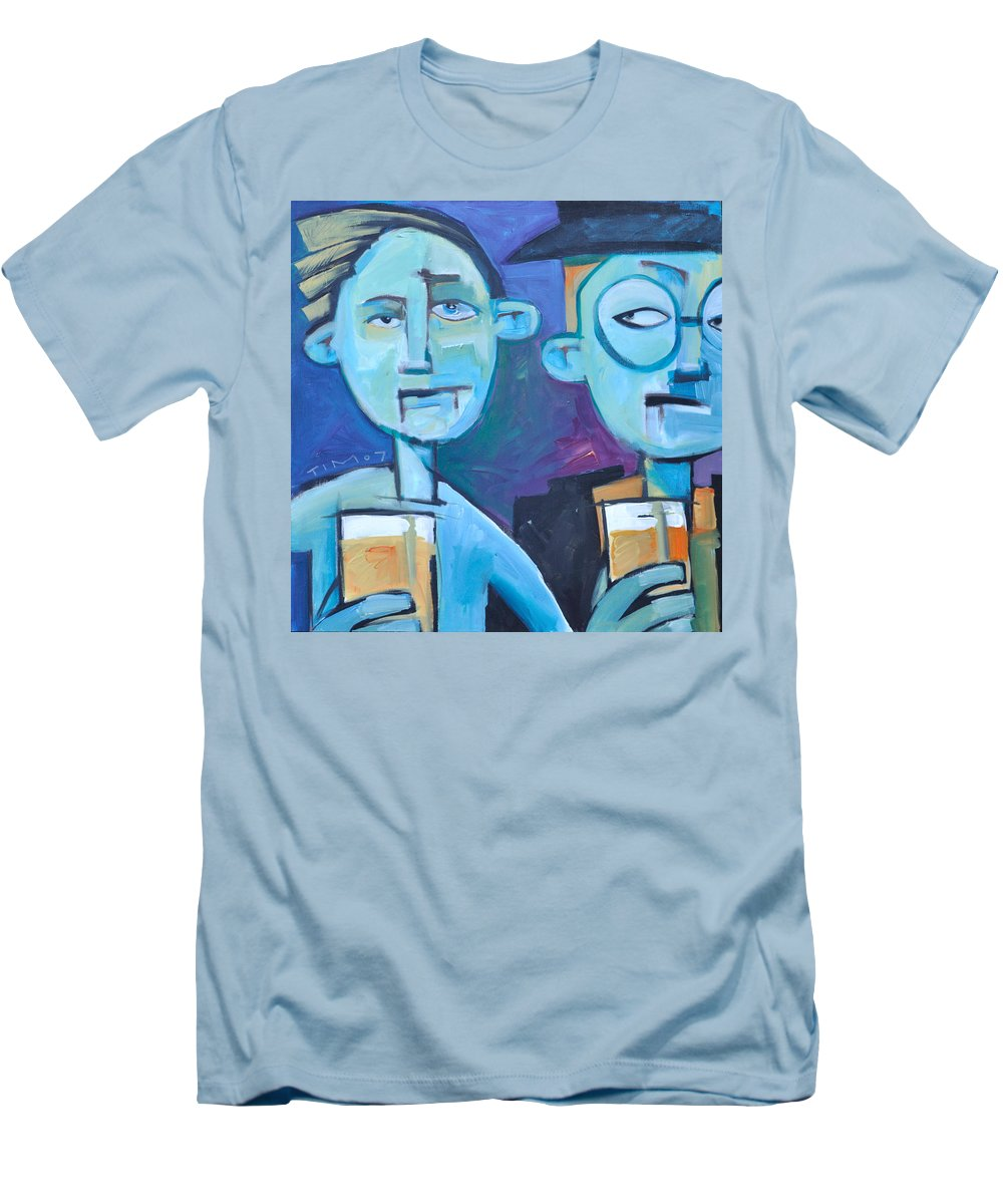 Men Men's T-Shirt (Athletic Fit) featuring the painting Under Scrutiny by Tim Nyberg
