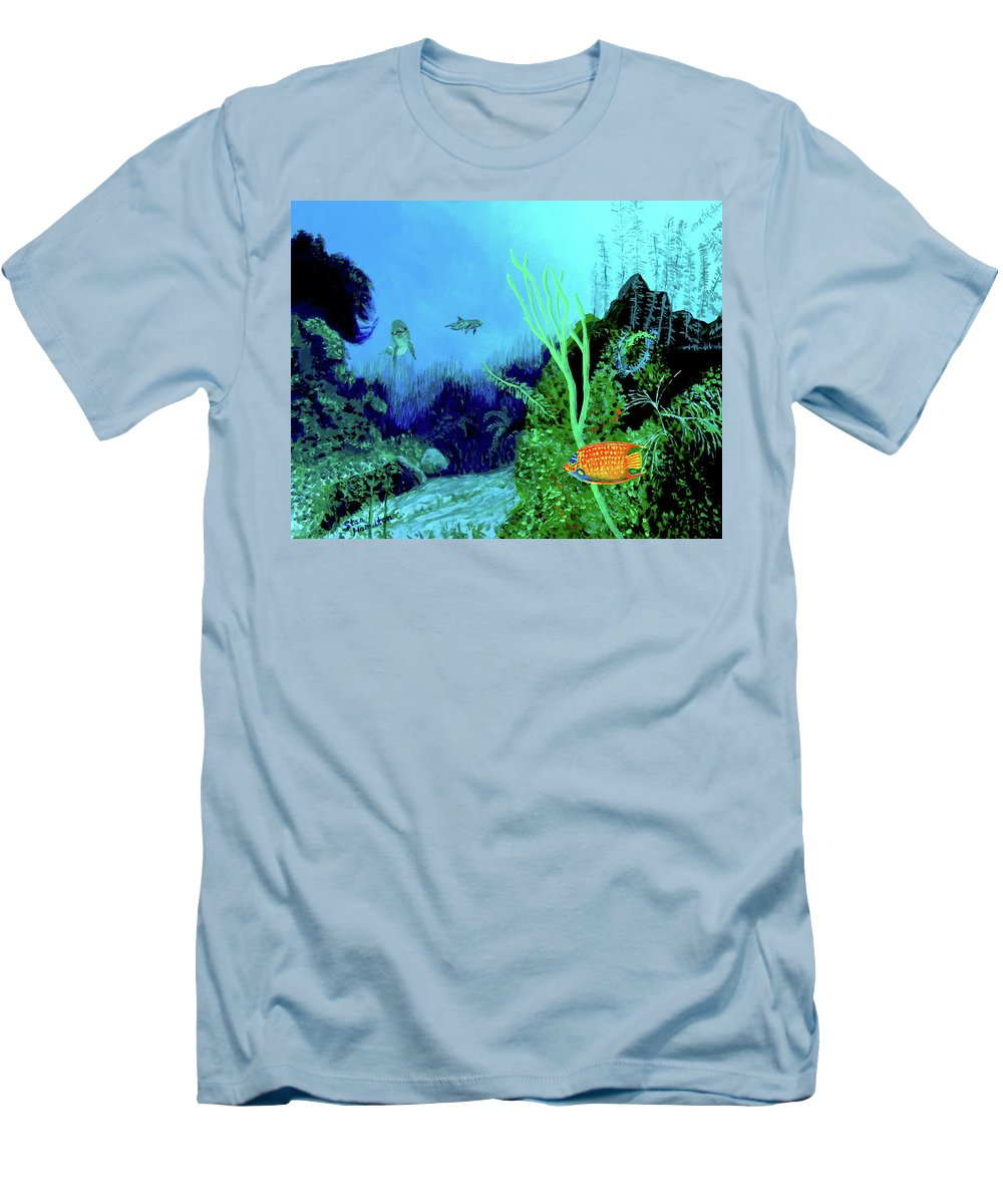 Wildlife Men's T-Shirt (Athletic Fit) featuring the painting Underwater by Stan Hamilton