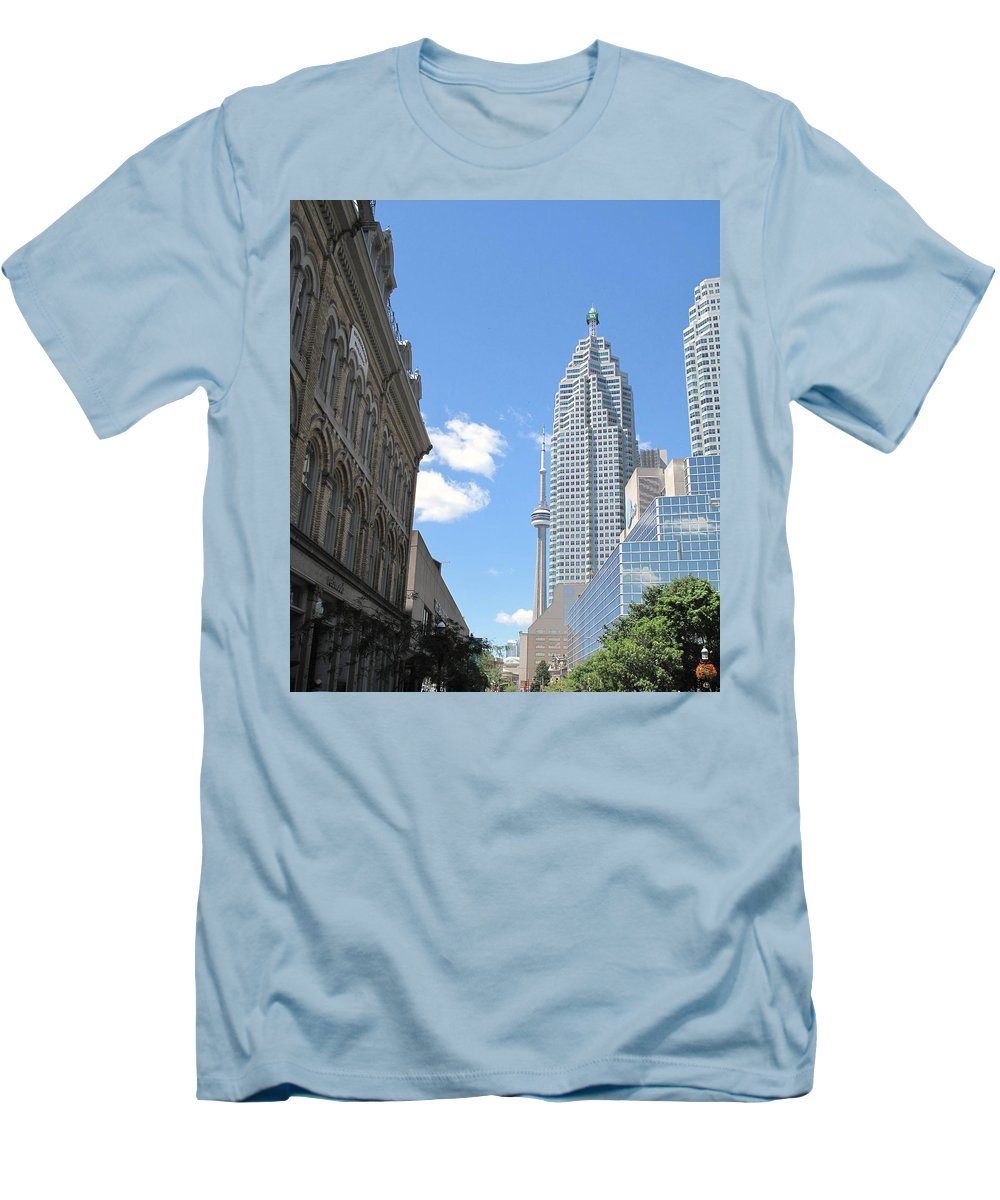 Front Street Men's T-Shirt (Athletic Fit) featuring the photograph Urban Canyon by Ian MacDonald