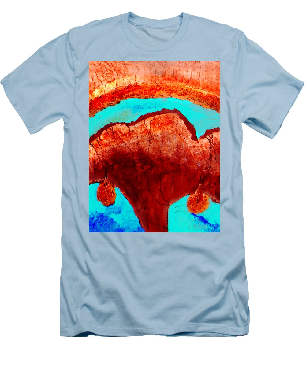 Color Men's T-Shirt (Athletic Fit) featuring the painting Uterus by Veronica Jackson