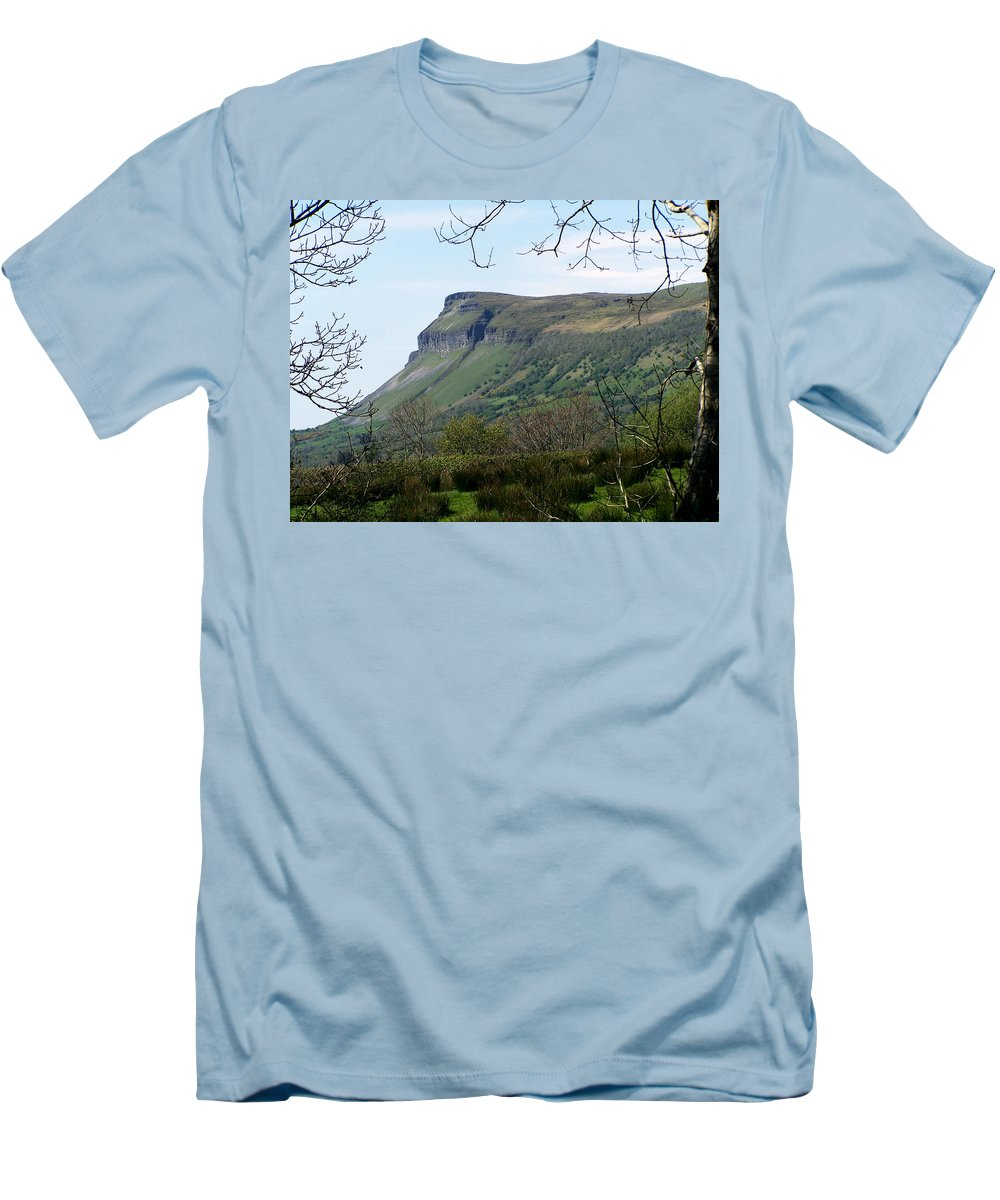 Irish Men's T-Shirt (Athletic Fit) featuring the photograph View Of Benbulben From Glencar Lake Ireland by Teresa Mucha