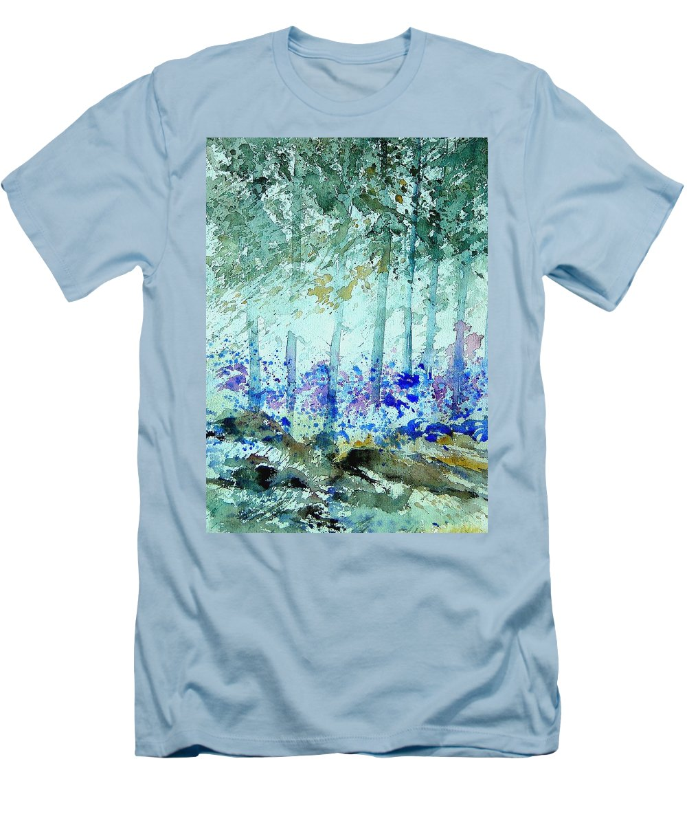 Tree Men's T-Shirt (Athletic Fit) featuring the painting Watercolor 011105 by Pol Ledent
