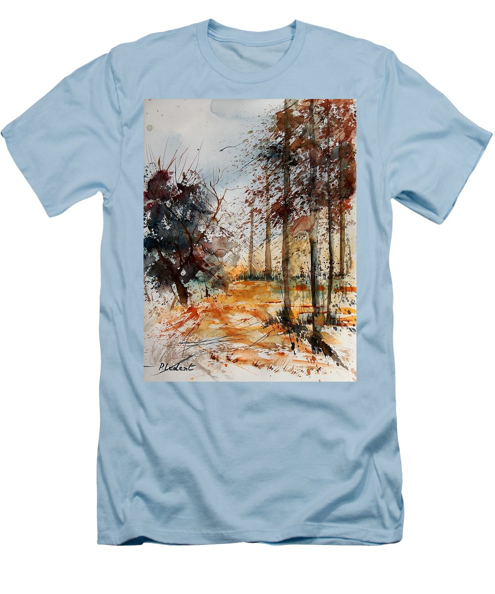 Tree Men's T-Shirt (Athletic Fit) featuring the painting Watercolor 040902 by Pol Ledent