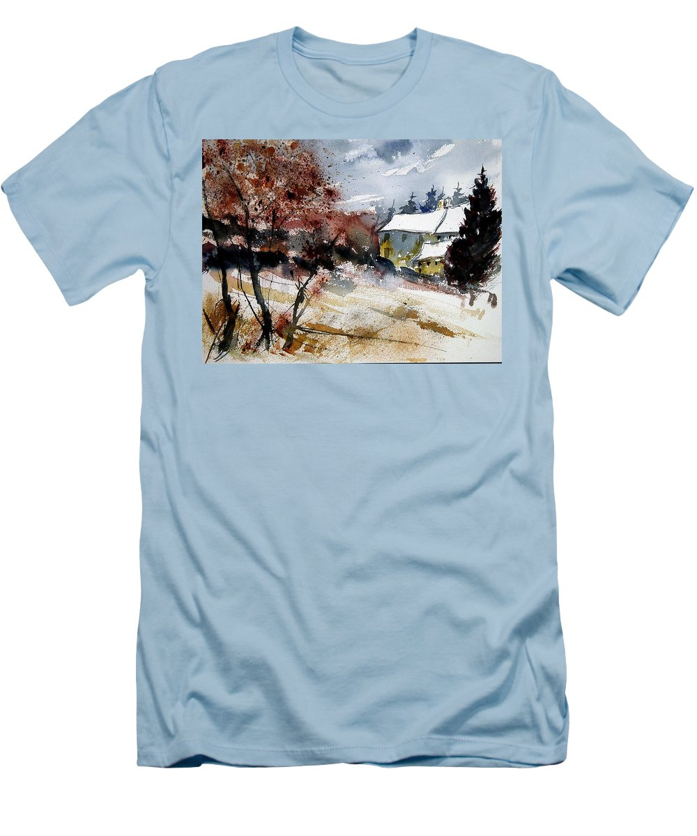 Winter Men's T-Shirt (Athletic Fit) featuring the painting Watercolor 251205 by Pol Ledent