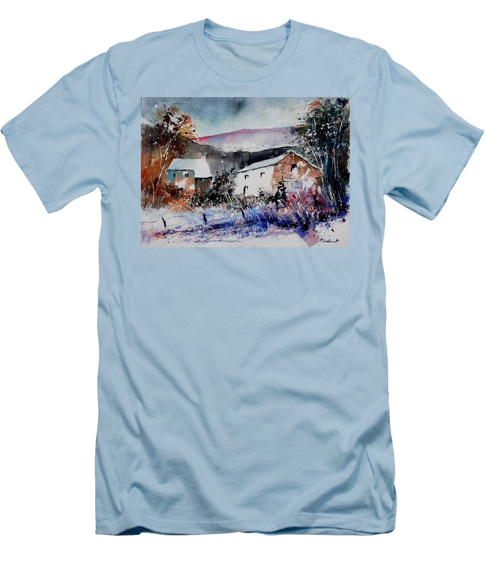 Winter Men's T-Shirt (Athletic Fit) featuring the painting Watercolor 902080 by Pol Ledent