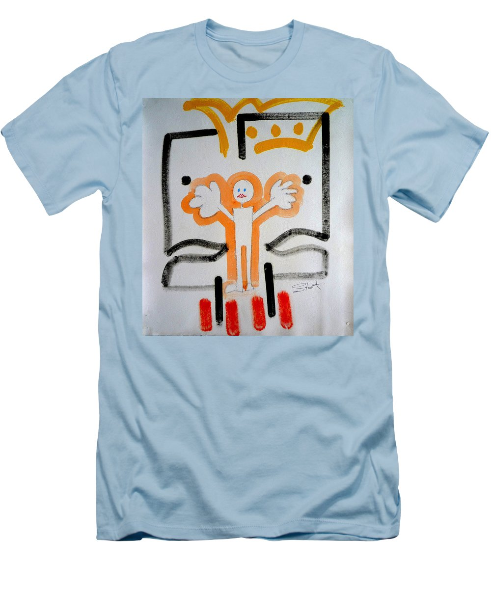 Drawing Men's T-Shirt (Athletic Fit) featuring the painting welcome to the U N by Charles Stuart