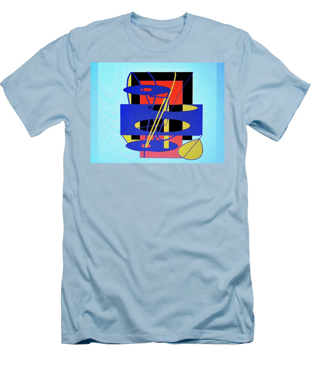 Abstract Men's T-Shirt (Athletic Fit) featuring the digital art Widget World by Ian MacDonald