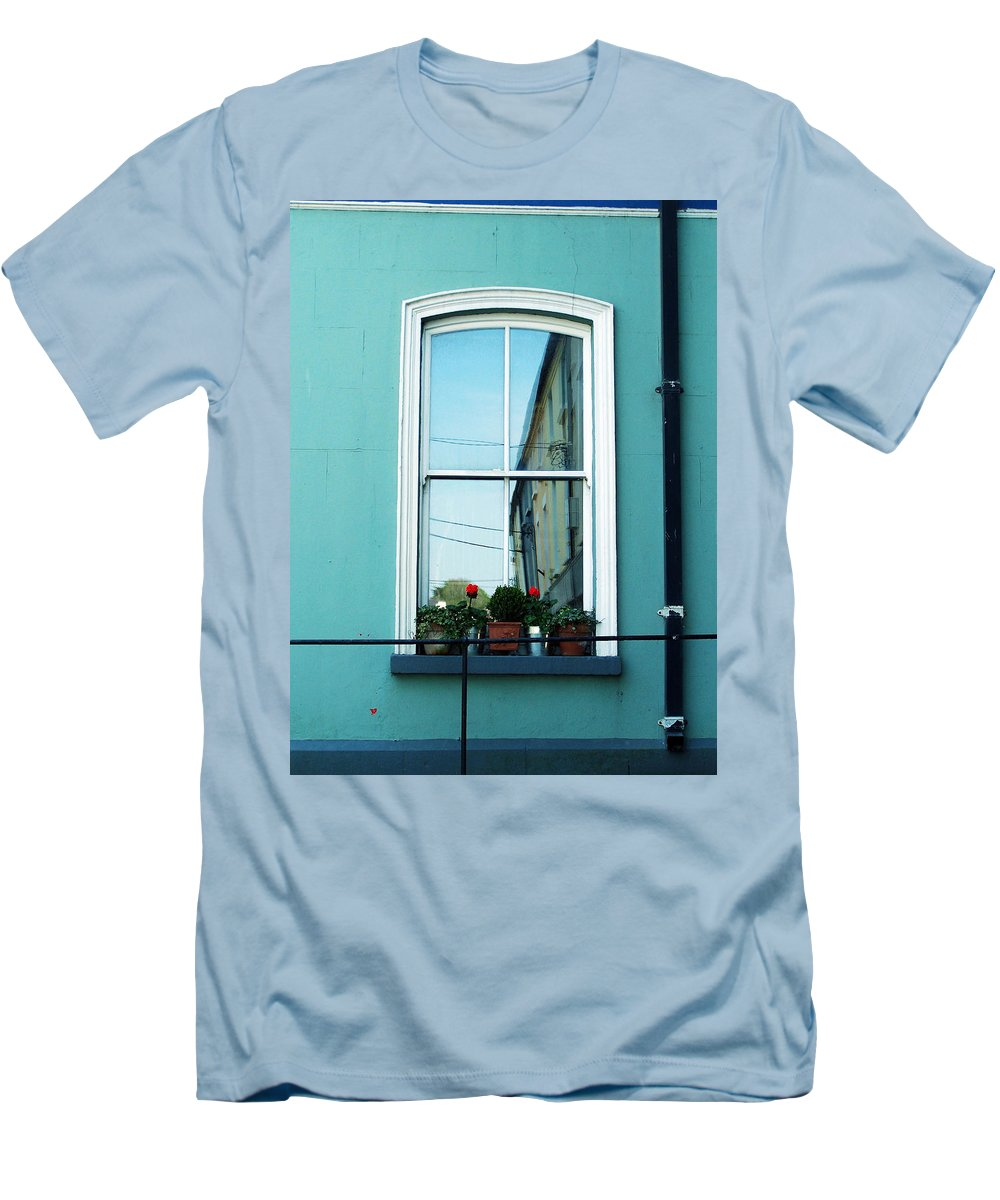 Irish Men's T-Shirt (Athletic Fit) featuring the photograph Window In Ennistymon Ireland by Teresa Mucha