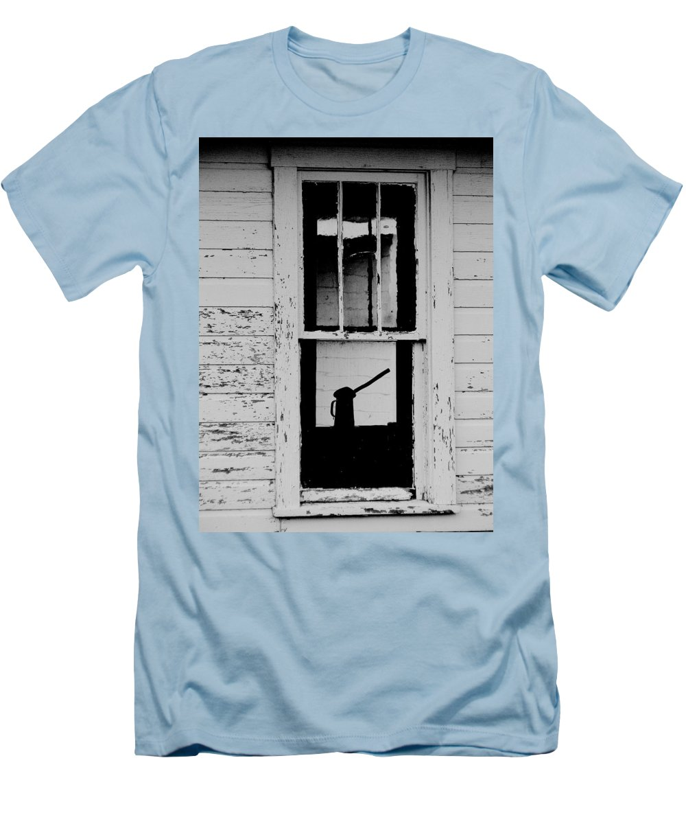 Still Life Men's T-Shirt (Athletic Fit) featuring the photograph Window To The Past by Ed Smith