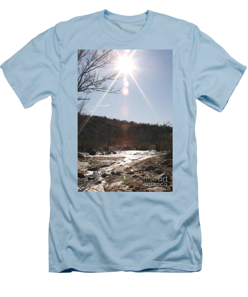 Winter Men's T-Shirt (Athletic Fit) featuring the photograph Winter Light by Nadine Rippelmeyer