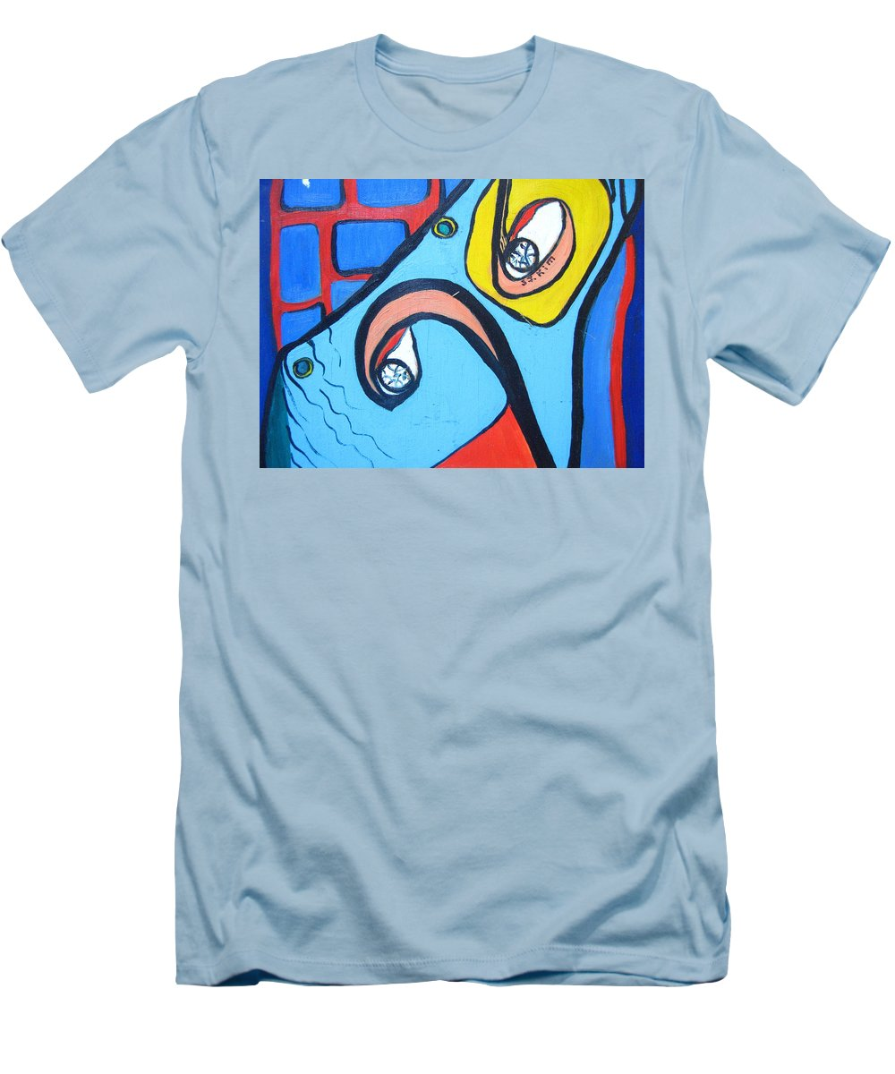 Woman Paintings Men's T-Shirt (Athletic Fit) featuring the painting Woman13 by Seon-Jeong Kim