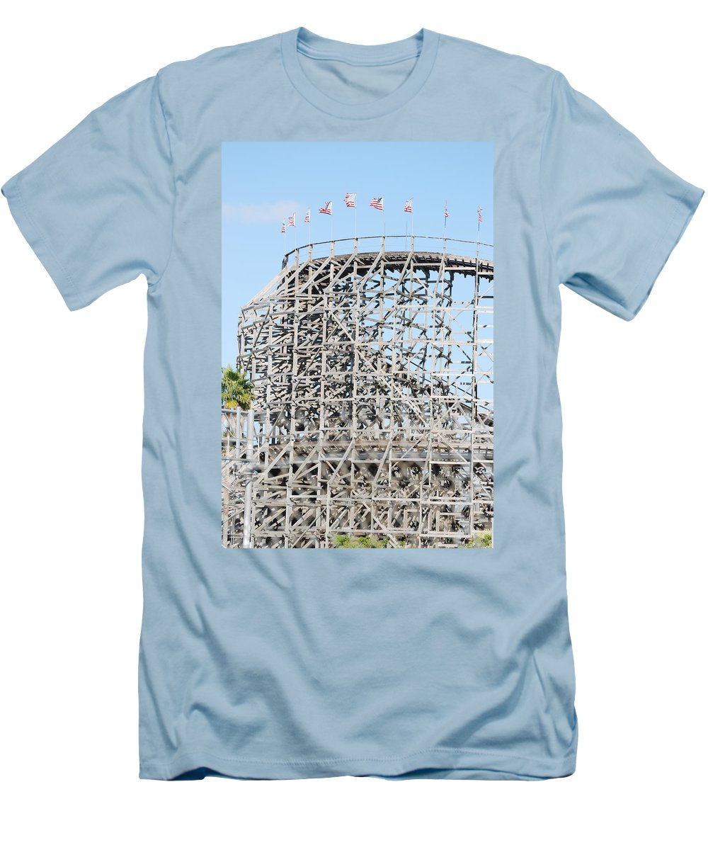 Pop Art Men's T-Shirt (Athletic Fit) featuring the photograph Wooden Coaster by Rob Hans
